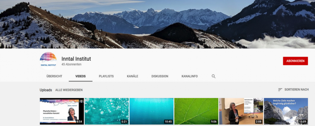 Der YouTube Kanal des INNTAL Instituts